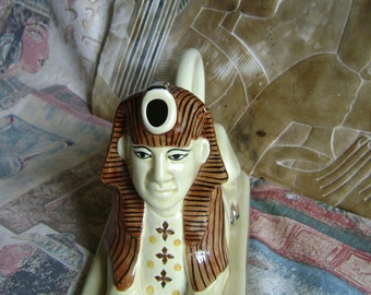 Egyptian Sphinx figural teapot by Tony Woods, England.