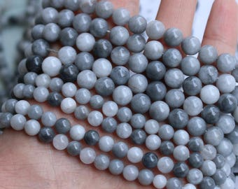 Natural eagle eye stone round DIY gemstone loose beads strand 16'' 4mm 6mm 8mm 12mm
