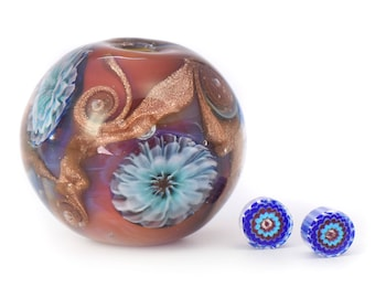 Ocean Anemone Bead and Murrini Video Tutorials in combined listing,