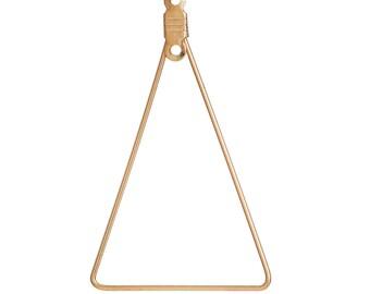 2 triangle findings 42x25mm gold earrings