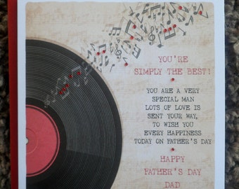 """Handmade Personalised 6"""" Square Fathers Day Card"""