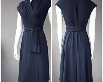 Maxi wrap dress,  true wrap, long black dress, more colors