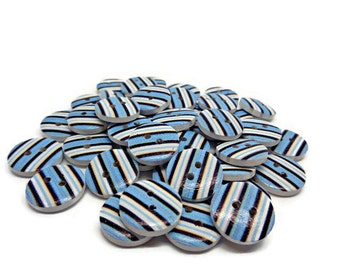 10 stripy buttons, striped buttons, nautical buttons, clothing buttons, sewing supplies, cardmaking supplies, uk button supplies,