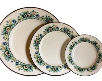 Lenox China, Lenox Merrival, Lenox China Set, China Service, Merrivale Pattern, Lenox Plate, Merrivale, Lenox Green Floral, Lenox Dinnerware