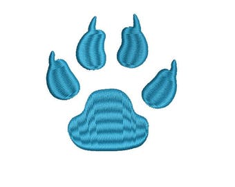 Tiger Paw Print Machine Embroidery Design Tiger Paw Embroidery Design - Instant Download print Dog Paw Embroidery Design