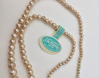 Vintage DuBarry Japan Simulated Pearl Necklace/Simulated Pearls/DuBarry original/Vintage Pearl Necklace/Japanese Pearls