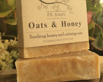 Oats & Honey - exfoliating, soothing, gentle, nourishing soap