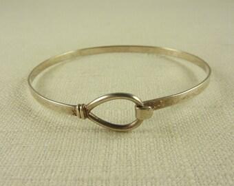 Vintage Sterling Loop and Hook Bracelet