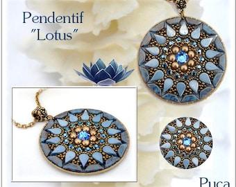 """Schéma pendentif """"Lotus"""""""
