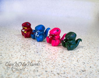 Little T-Rex Dinosaur Figure - comes in blue, green, pink, or red