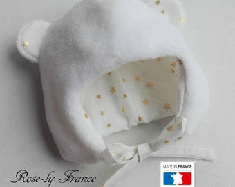 SALE! Beanie baby bear cotton polaireet earrings gold stars