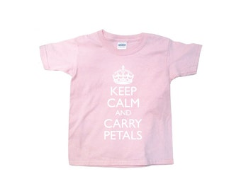 Keep Calm and Carry Petals flower girl t-shirt