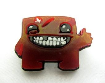 Super Meat Boy Laser Cut Brooch