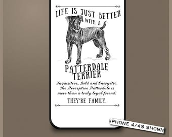 Patterdale Terrier dog phone case cover iPhone Samsung ~ Can be Personalised
