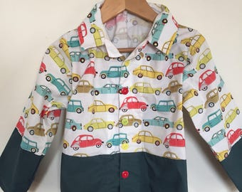 Boy 5-6 pattern car shirt