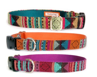 Aztec dog collar dog leash Boho Navaho Tribal Native American style dog collar small dog large dog boy dog girl dog Unique dog collar