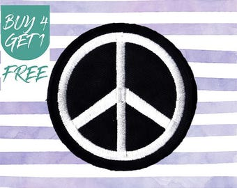 Peace Sign Patch Freedom Patches Iron On Patch Embroidered Patch Symbol Friendship
