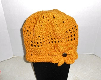 Roaring 20's Crocheted Cap Hat, Great Chemo Hat Lady's Adult L
