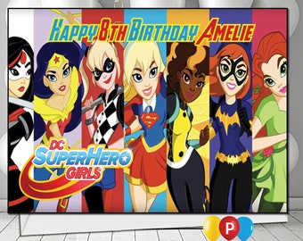 Personalised DC Superhero Girls 1 Birthday Card