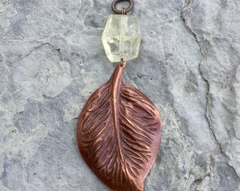 INTERCHANGEABLES - Copper Leaf with Citrine Stone