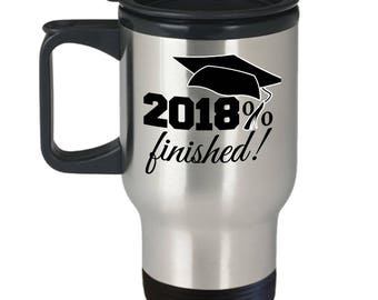 Senior 2018 - Class of 2018 graduation gift - stainless steel travel mug for him or her - best present for high school or college graduate