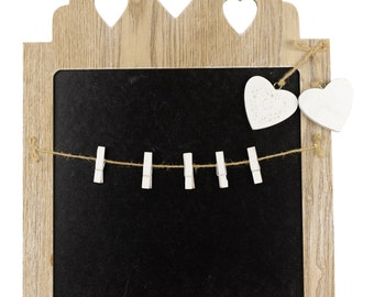 Blackboard with Hearts and memos