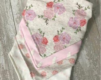 Monogrammed Infant Bandana Bib Set- Personalized Gift - Embroidered Gift - New Baby Gift - Baptism Gift - Monogrammed Gift - Embroidered Bib