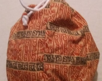 Medium Hexie Drawstring Bag