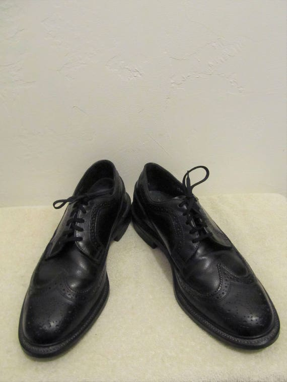 By Wingtips MAD Men's 60's Sharp Leather EXECUTIVE MEN 10D Imperial Vintage Black era w8wzRq