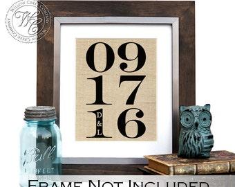 wedding date sign, date print, established date, Personalized Wedding, Wedding Gift, Wedding Shower Gift, Established Date, Engagement Gift