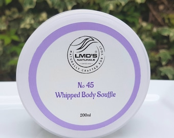 No 45 Whipped Shea and Mango Body Souffle, Lavender infused, body butter