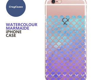 Watercolour Mermaid iPhone Case for iPhone 6/s, iPhone 6/s Plus and iPhone 7 (Shipped From UK)
