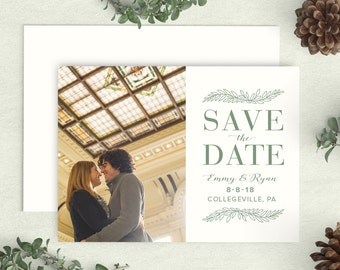 Rustic Save the Date, Save the Date Card, Rustic Save the Date Photo, Simple Rustic Save the Date, Woodland Wedding Save the Date