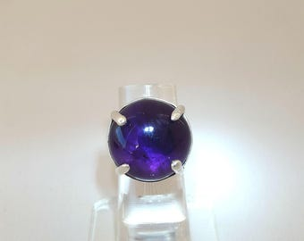 Ring, Amethyst Ring, silver ring, stone ring, Party ring, event ring, ring, pure silver ring, Handmade ring