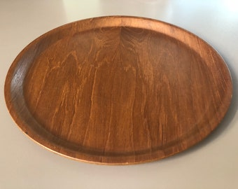 Round Modern Plywood Serving Tray