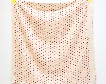 nani IRO Japanese fabric  pocho raspberry - red polka dots