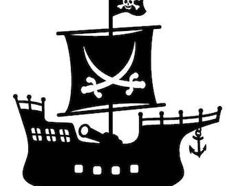 Pirate Ship Vinyl Decal Sticker