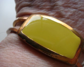 Copper and Yellow Stone Bracelet