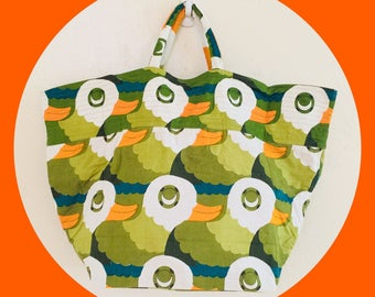 Green Duck Market Tote Bag