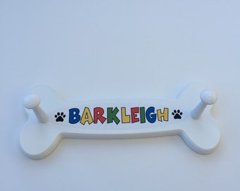 Dog shaped Wooden Leash Holder