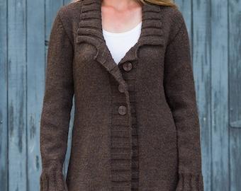 PDF Knitting Pattern Belmont Top-Down Coat #B117