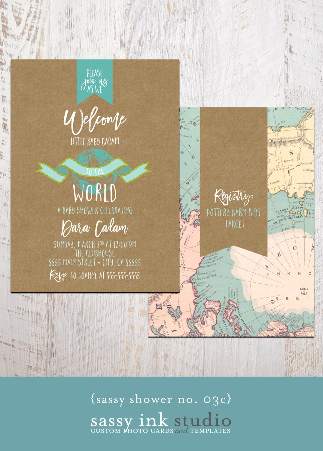 Baby Shower Invitation Welcome to the World Baby Shower