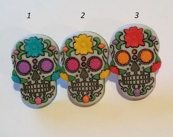 Sugar Skull Day of the Dead Pin