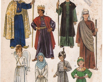 FF Nativity Costume Pattern, McCalls 2067 Angel Wise Men Shepherd Childs Costume, Halloween Costume, Size 12 14, Sewing Pattern, UNCUT