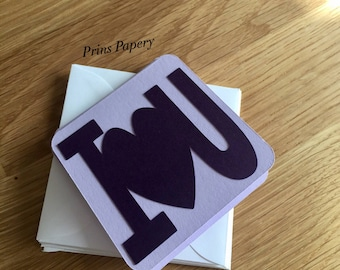 I Heart You Mini Note Cards with Envelopes 8