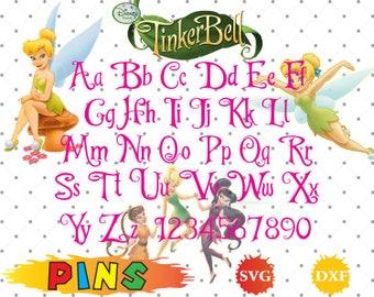 Tinkerbell font svg,dxf/Tinkerbell alphabet/Tinkerbell letter  for Design,Print,Silhouette, Cricut