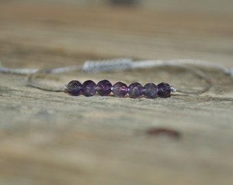 Crown Chakra, Amethyst, 7th Chakra, Gemstone Therapy, Yoga Bracelet, Meditation Bracelet, Reiki, Wish Bracelet