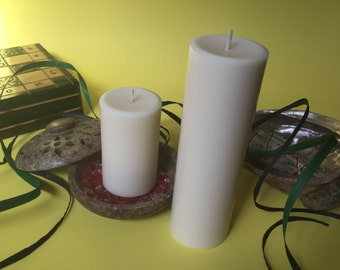 White Soy Wax Pillar Candles