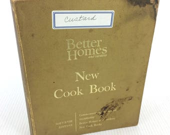 Vintage Cookbook Better Homes And Gardens 1965 Gold Souvenir Edition Binder