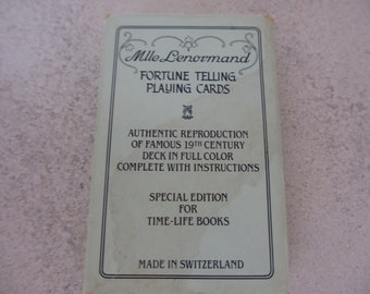 Vintage Tarot Cards Mlle Lenormand  Fortune Telling Cards 1970 Special Edition For Life Time Books
